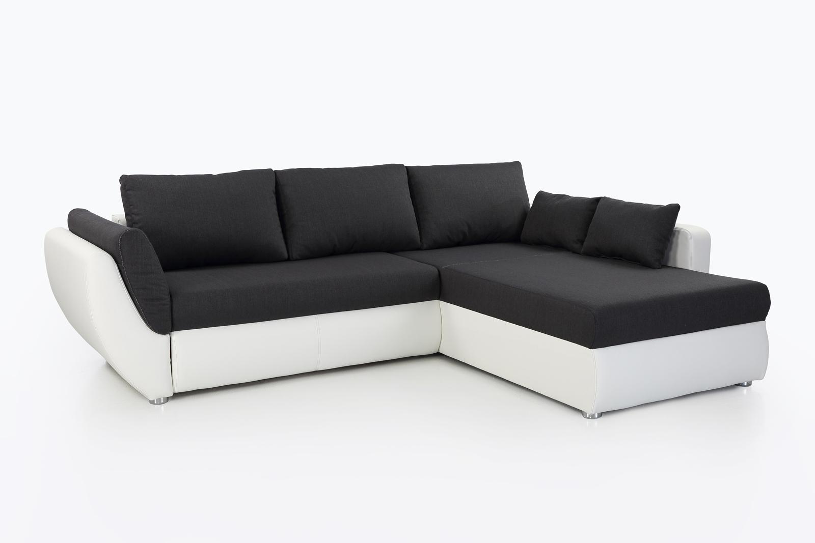172280 funktionssofa mit bettkasten weiss schwarz ebay. Black Bedroom Furniture Sets. Home Design Ideas