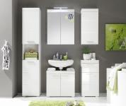 Badezimmer komplett Weiss Hochglanz 4-tlg