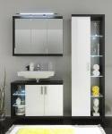 Badezimmer Rauchsilber Weiss inklusive Beleuchtung