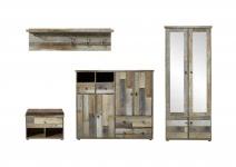 Garderobe 4-tlg inkl Paneel horizontal Bonanza von Innostyle Driftwood Vintagelook Dekor