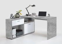 DIEGO  Winkelschreibtisch  Light Atelier/Hgl weiß