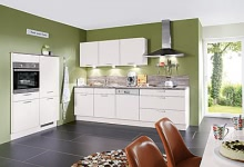 Einbauküche seidengrau inkl. Elektrogeräte