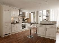 Einbauküche Seidenmatt Magnolie