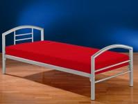 Einzelbett titanfarbig, aus Metall, 90x200 cm