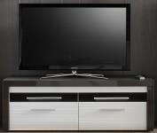 TV-Lowboard Grau/Weiss