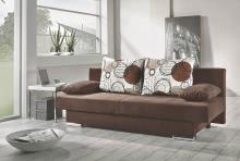 Funktionsssofa mit Gästebettfkt und großen Rückenkissen und aufgelegten Armkissen Griffin Beige / Braun