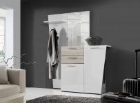 Kleiderpaneel Kando Weiß  | B/H/T: 57 / 192 / 27