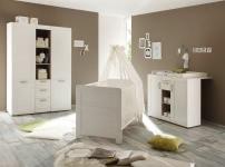 Kinderbett Landi von Trendteam Pinie Weiß Struktur