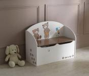 Spielzeugtruhe Ted & Lily Chocolat/Beige von Demeyere