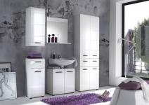 Komplett Badezimmer Weiss HG 5tlg
