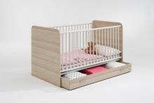 70x140 MADAGASKAR 1 Babybett Esche/Weiss
