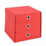 MEGA 31 Aufbewahrungsbox mit 3 Schubkästen rot