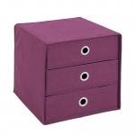 MEGA 31 Aufbewahrungsbox mit 3 Schubkästen violett