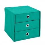 MEGA 31 Aufbewahrungsbox mit 3 Schubkästen grün