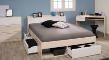 Schlafzimmer 3-tlg. Inkl 140x200 Bett Most 59 von Parisot Akazie / Weiß