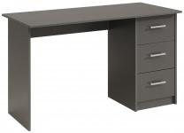 Schreibtisch 3 Schubkästen Infinity 104 von Parisot Grau