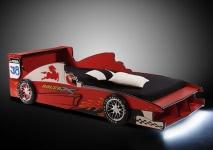 90x200 Renn-Auto-Bett Speedy inkl. Beleuchtung Rot  | B/H/T: 96 / 62 / 215