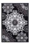 80x150 Teppich Ukraine - Smila Schwarz von Lalee