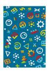 110x160 Teppich Spirit Glowy 3146 Icons von Arte Espina Blau