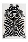 120x160 Teppich Rabbit Animal 400 Schwarz / Weiß von Arte Espina