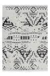 120x170 Teppich Agadir 110 Weiß / Schwarz von Kayoom