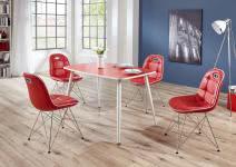 Schalenstuhl ANJA ergonomisch in 2er Set Rot / Weiß