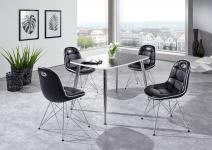 Schalenstuhl ANJA ergonomisch in 2er Set Schwarz / Weiß