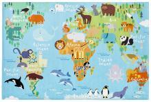 160x230 Teppich My Torino Kids 233 von Obsession world map