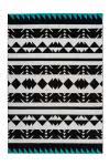 80x150 Teppich Broadway 400 Schwarz / Weiß / Türkis von Arte Espina