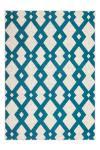 80x150 Teppich Now! 100 Elfenbein / Türkis von Kayoom
