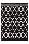 80x150 Teppich Lina 200 Schwarz / Elfenbein  von Kayoom