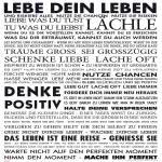 Deko-Panel ADORA 50x50 cm Motiv: Live your life von Spiegelprofi
