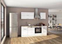 Küchenblock 220 inkl E-Geräte von PKM (3 tlg) MAILAND von Held Möbel Weiss / Eiche Sonoma