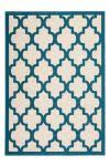 160x230 Teppich Manolya 3097 Elfenbein-Türkis von Kayoom