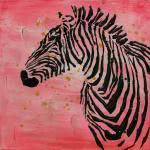 70x70 Öl-Wandbild Kalahari von Kayoom Rot