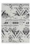 80x150 Teppich Agadir 110 Weiß / Schwarz von Kayoom