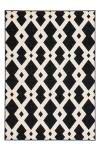 80x150 Teppich Now! 100 Schwarz / Weiß von Kayoom