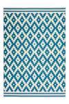 80x150 Teppich Now! 300 Elfenbein / Türkis von Kayoom