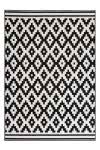 80x150 Teppich Now! 300 Schwarz / Weiß von Kayoom