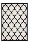 80x150 Teppich Manolya 3097 Elfenbein-Schwarz von Kayoom