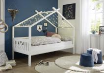 90x200 Kinderbett LEONIE von Begabino Kiefer massiv weiß