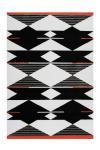 80x150 Teppich Broadway 500 Schwarz / Weiß / Rot von Arte Espina
