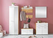 Garderobe 5-tlg komplett LIRO Artisan / Weiß hochglanz