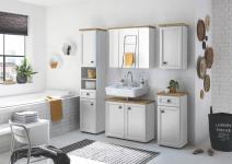 Badezimmer-Set 5-tlg TOSKANA von Bega Eiche Artisan / Weiss