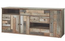 Bonanza Sideboard 3 türig mit 7 SK in Driftwood Vintagelook Optik