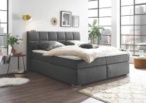 Boxspringbett 180x200 inkl Bettkasten RAVELLO 2 von BlackRedWhite Anthrazit
