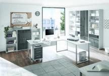 Büro Set 3-tlg. Office Lux von Bega Lichtgrau/Glas Graphit