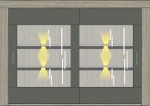 Buffet-Aufsatz inkl. LED-Beleuchtung Granada von Wohnconcept Haveleiche / Beton dunkel