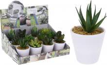 Deko 3er Set Kunstpflanze im Topf 9,5 cm von Koopman