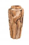 Dekovase FLINT 80 cm Natur Hellbraun